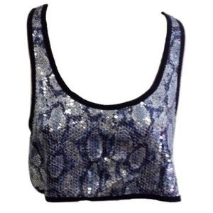 😀 3 for $20 NWT Millau Snake Skin Sequin Tank Top